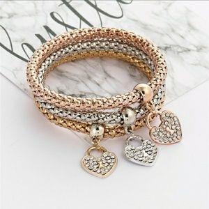 Jewelry - 3 Rhinestone Stretch Bracelets